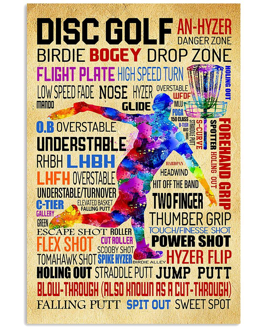 Disc Golf Word Art Vintage 11x17 Poster