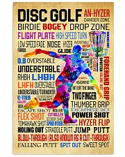 Disc Golf Word Art Vintage 11x17 Poster front