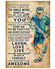 Lacrosse Today Is A Good Day 11x17 Poster front