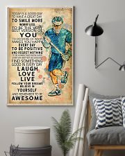 Lacrosse Today Is A Good Day 11x17 Poster lifestyle-poster-1