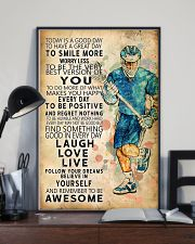 Lacrosse Today Is A Good Day 11x17 Poster lifestyle-poster-2