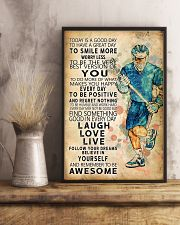 Lacrosse Today Is A Good Day 11x17 Poster lifestyle-poster-3