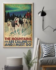 The mountains are calling dog sleding poster 11x17 Poster lifestyle-poster-1