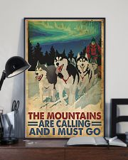 The mountains are calling dog sleding poster 11x17 Poster lifestyle-poster-2