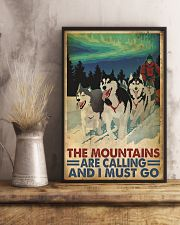 The mountains are calling dog sleding poster 11x17 Poster lifestyle-poster-3