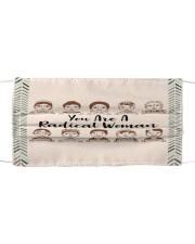 RBG radical woman sticker Cloth face mask front
