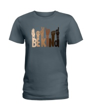 Be Kind Raise Hand Ladies T-Shirt thumbnail