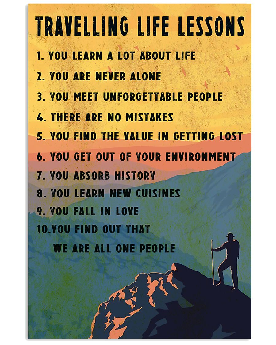 Camping Travelling Life Lesson 11x17 Poster