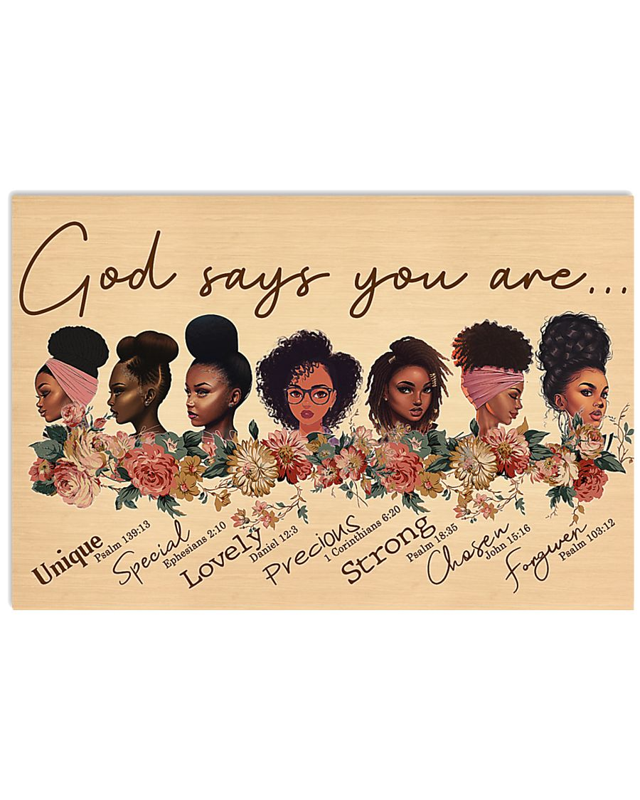 God say you are 17x11 Poster