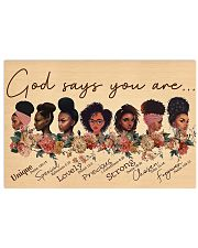 God say you are 17x11 Poster front
