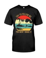 Bigfoot Parasailing Try To Follow Me Classic T-Shirt front