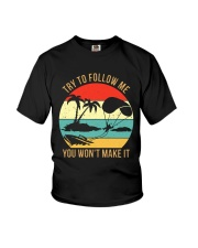 Bigfoot Parasailing Try To Follow Me Youth T-Shirt thumbnail