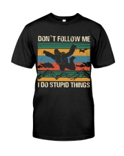 Bigfoot Skydiving I Do Stupid Things  Classic T-Shirt front