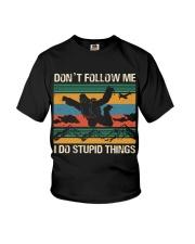 Bigfoot Skydiving I Do Stupid Things  Youth T-Shirt thumbnail
