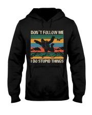 Bigfoot Skydiving I Do Stupid Things  Hooded Sweatshirt thumbnail