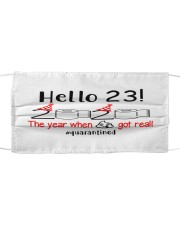23 Hello the year Cloth face mask thumbnail