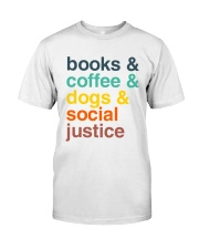Books coffee dogs justice pattern Classic T-Shirt thumbnail