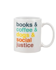 Books coffee dogs justice pattern Mug thumbnail
