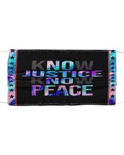 Know justice Cloth face mask front