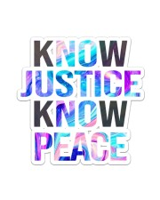 Know justice Sticker - Single (Vertical) thumbnail