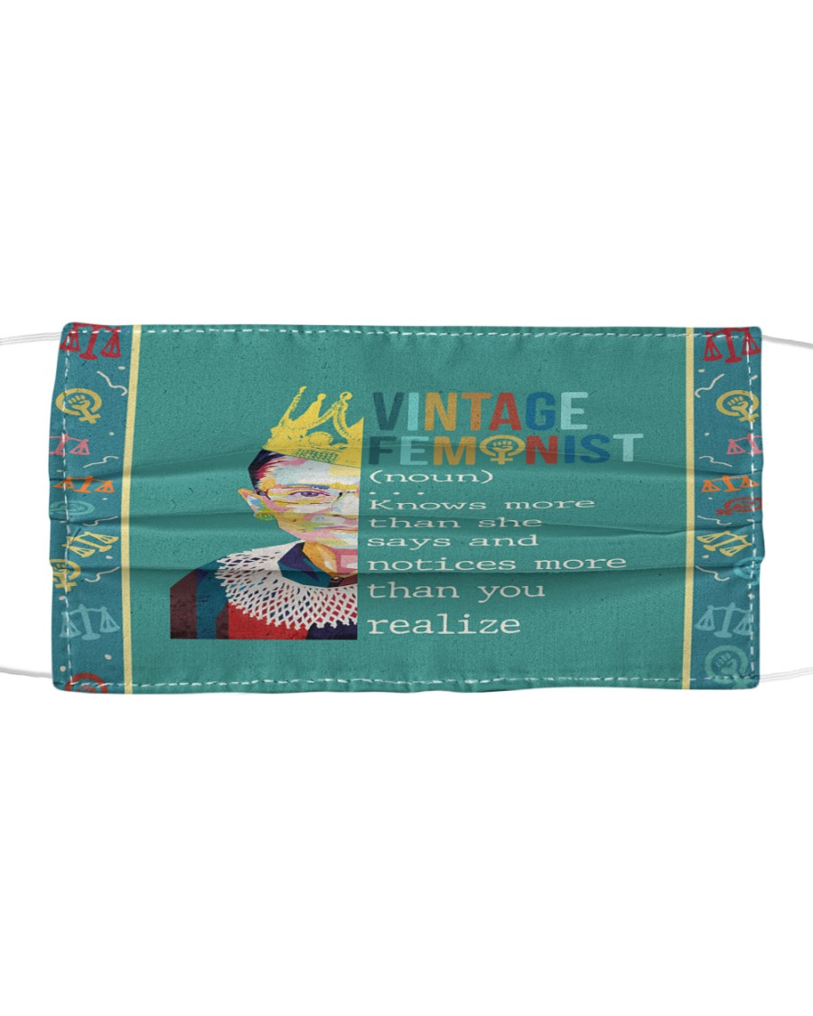 RBG vintage feminist Cloth face mask