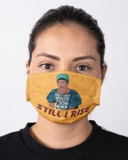 Maya Angelou each time still I rise Cloth face mask aos-face-mask-lifestyle-01