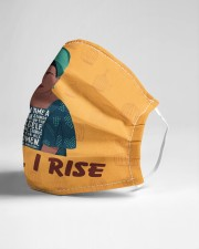 Maya Angelou each time still I rise Cloth face mask aos-face-mask-lifestyle-21