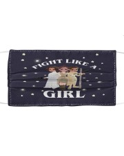 Fight like a girl Cloth face mask front