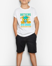 Blonde girl 4th grade Nothing Stop Youth T-Shirt lifestyle-youth-tshirt-front-1
