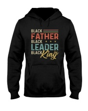 Black Father Black Leader Black King Hooded Sweatshirt thumbnail