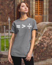 Equality greater than division Classic T-Shirt apparel-classic-tshirt-lifestyle-06