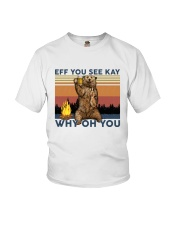Camping Eff You See Kay Bear Beer Youth T-Shirt thumbnail