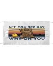 Camping Eff You See Kay Bear Beer Cloth face mask thumbnail