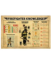 Firefighter Knowledge 17x11 Poster front