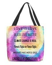 feminism 3D totebag All-over Tote back
