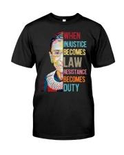RBG duty sticker Classic T-Shirt thumbnail