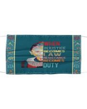 RBG duty sticker Cloth face mask thumbnail