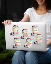 RBG duty sticker Sticker - 6 pack (Vertical) aos-sticker-6-pack-vertical-lifestyle-front-13