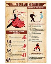 Ballroom dance knowledge 11x17 Poster front