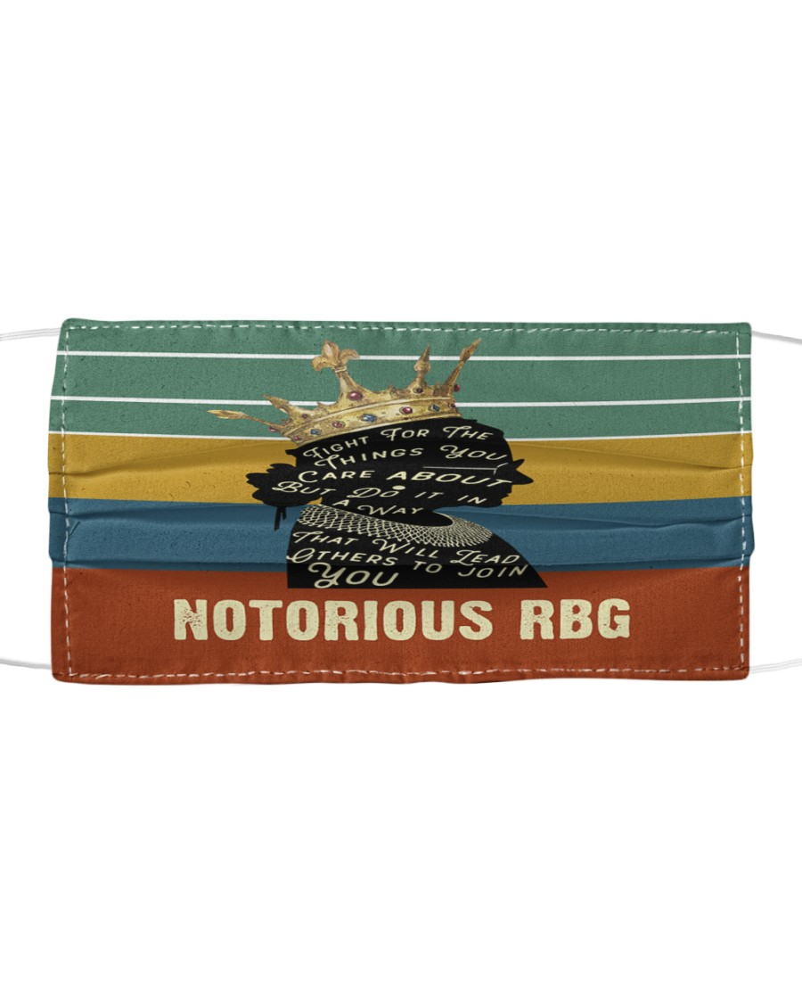 RBG retro fight things Cloth face mask