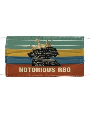 RBG retro fight things Cloth face mask front