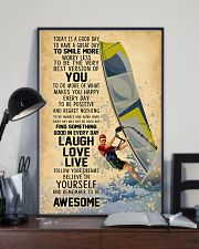 Wind Surfing Today Is A Good Day 11x17 Poster lifestyle-poster-2