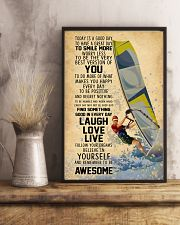 Wind Surfing Today Is A Good Day 11x17 Poster lifestyle-poster-3