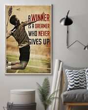 Badminton Never Give Up 11x17 Poster lifestyle-poster-1