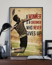 Badminton Never Give Up 11x17 Poster lifestyle-poster-2
