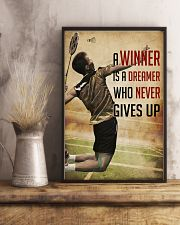 Badminton Never Give Up 11x17 Poster lifestyle-poster-3