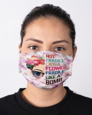 Frida Kahlo flower fragile Cloth face mask aos-face-mask-lifestyle-01