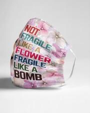Frida Kahlo flower fragile Cloth face mask aos-face-mask-lifestyle-21