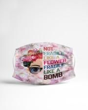 Frida Kahlo flower fragile Cloth face mask aos-face-mask-lifestyle-22