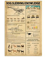 Dog Sledding Knowledge 11x17 Poster front